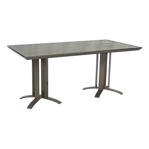 """Castelle - 64"""" Moderna Metro Rectangular Dining Table"""