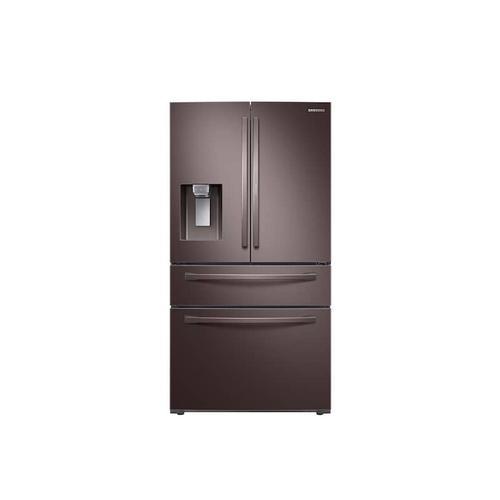 Samsung - 28 cu. ft. Food Showcase 4-Door French Door Refrigerator in Tuscan Stainless Steel