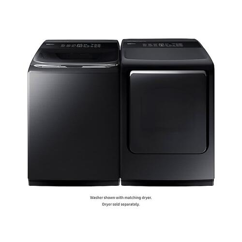 Samsung - 5.2 cu. ft. activewash™ Top Load Washer with Integrated Touch Controls in Black Stainless Steel