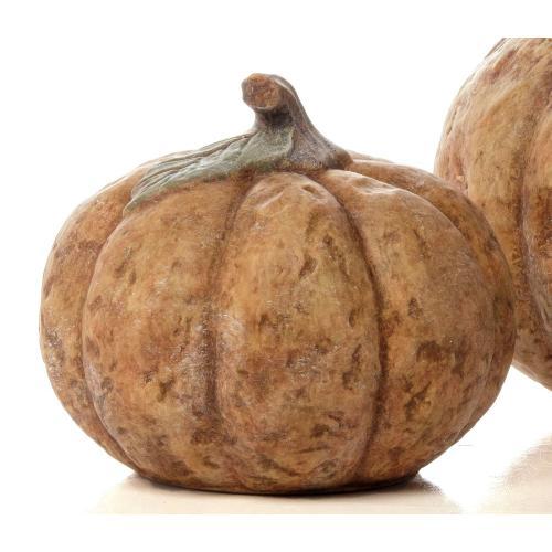 Small Round Homespun Pumpkin