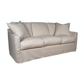Track Arm, Standard Depth, Three Cushion, King Slipcover Sofa.