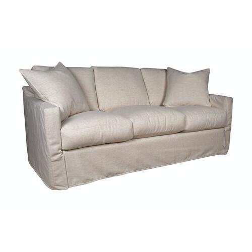 Track Arm, Plush Depth, Three Cushion, Queen Slipcover Sofa.