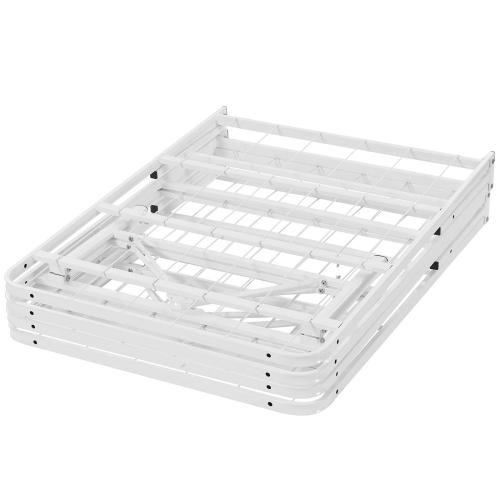 Horizon Full Stainless Steel Bed Frame in White