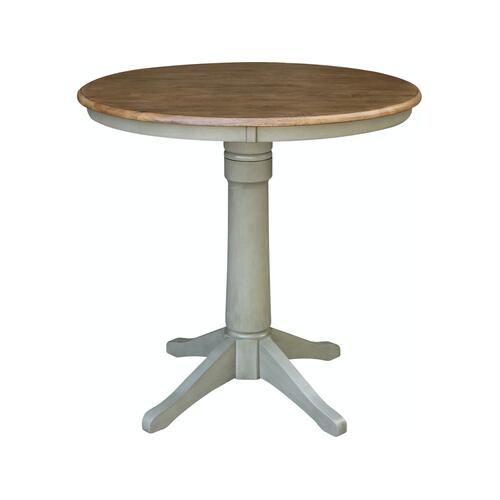 "36"" Pedestal Table in Hickory / Stone"