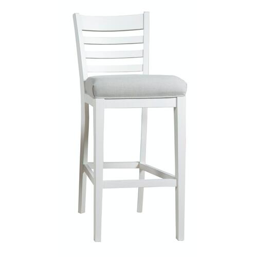 30'' Bar Stool, Available in Hampton White Finish Only.