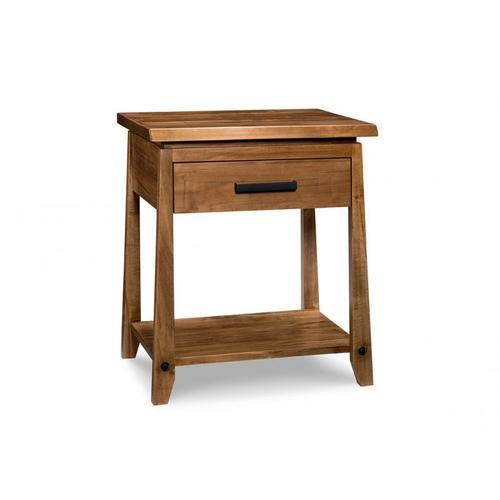 Handstone - Pemberton 1 Drawer Open Nightstand