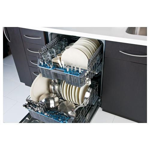 GE Appliances - GE® Hybrid Stainless Steel Interior Dishwasher with Front Controls