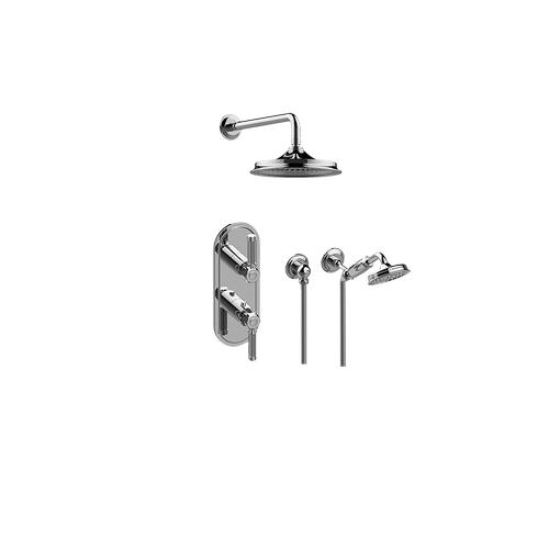 Vintage M-Series Thermostatic Shower System - Shower with Handshower