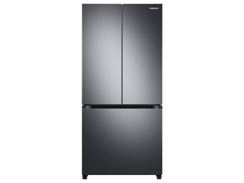Samsung18 Cu. Ft. Smart Counter Depth 3-Door French Door Refrigerator In Black Stainless Steel