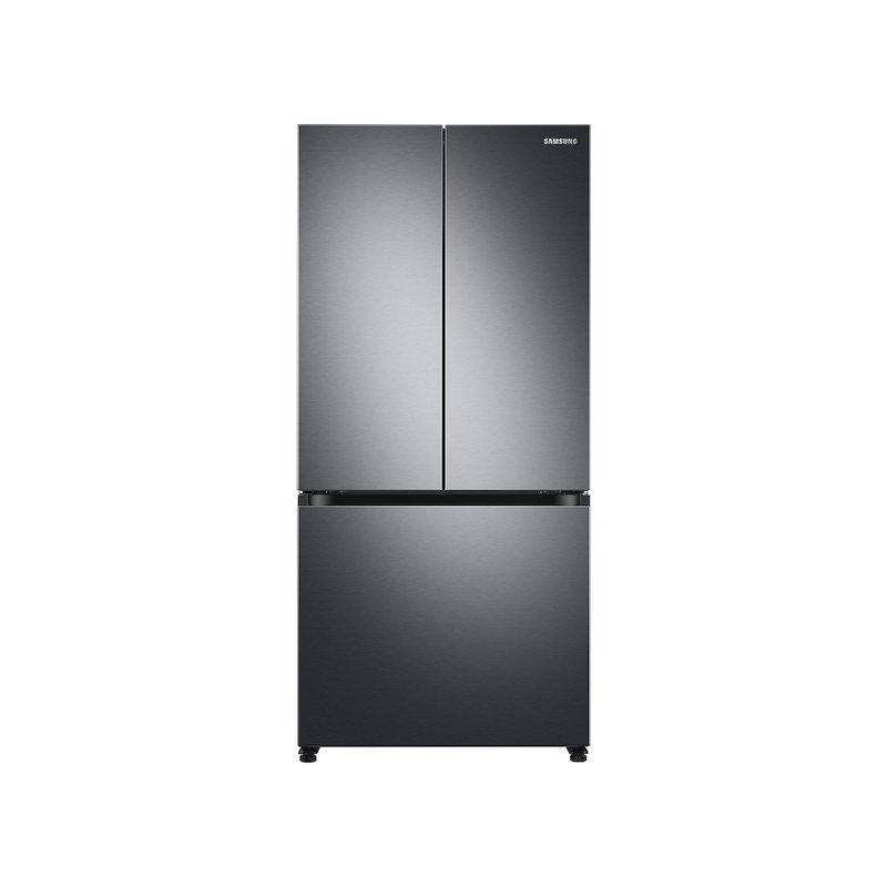 18 cu. ft. Smart Counter Depth 3-Door French Door Refrigerator in Black Stainless Steel
