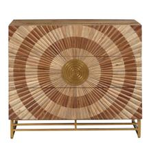 Metallic Bullseye 3 Drawer Accent Chest in Brown and Gold