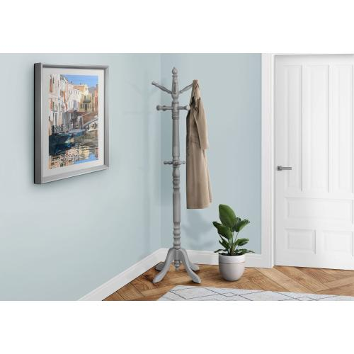 """Gallery - COAT RACK - 73""""H / GREY WOOD TRADITIONAL STYLE"""