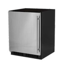 View Product - 24-In Low Profile Built-In Refrigerator With Maxstore Bin And Door Storage with Door Style - Stainless Steel, Door Swing - Left