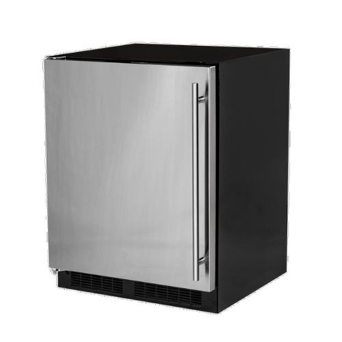 Marvel - 24-In Low Profile Built-In Refrigerator With Maxstore Bin And Door Storage with Door Style - Stainless Steel, Door Swing - Left