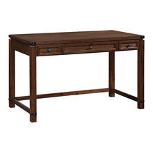See Details - Baton Rouge Home Office Writing Desk In Brushed Walnut Finish