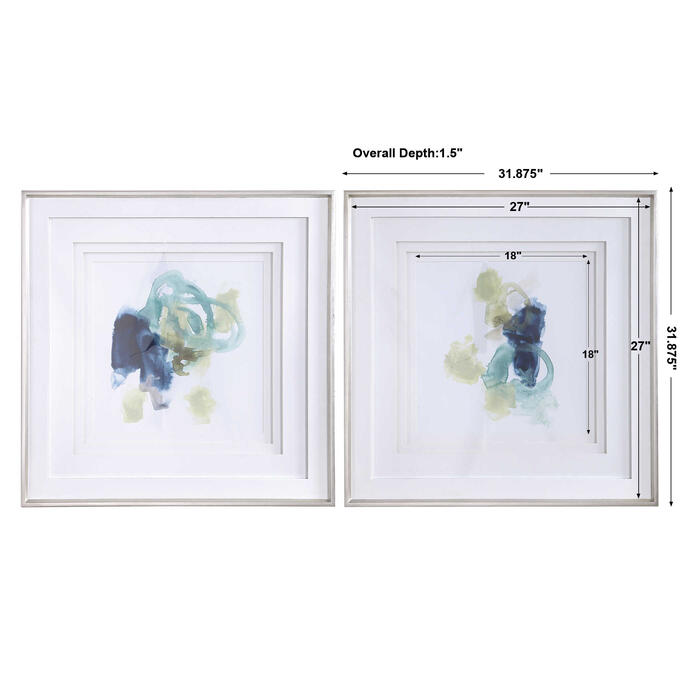 Uttermost - Integral Motion Framed Prints, S/2