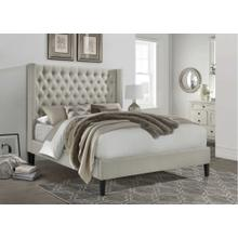 7534 Wing Back Fabric Platform Bed - FULL