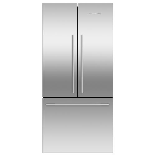 """Fisher & Paykel - Freestanding French Door Refrigerator Freezer, 32"""", 16.9 cu ft, Ice"""