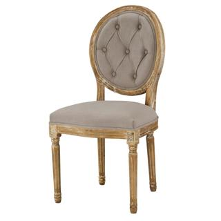 See Details - Meg Tufted Side Chair (grey)