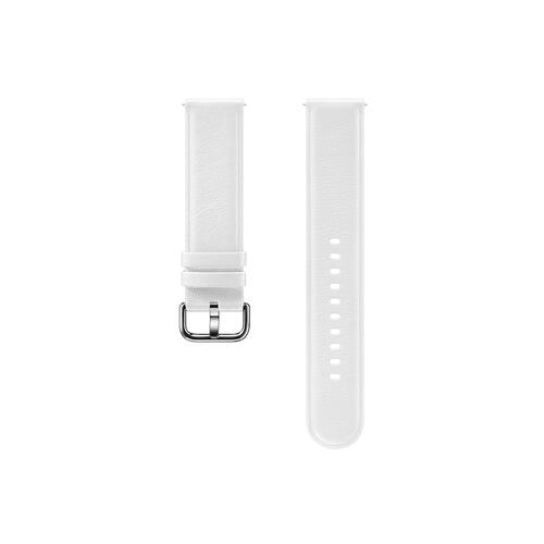 Leather Band for Galaxy Watch Active2, White