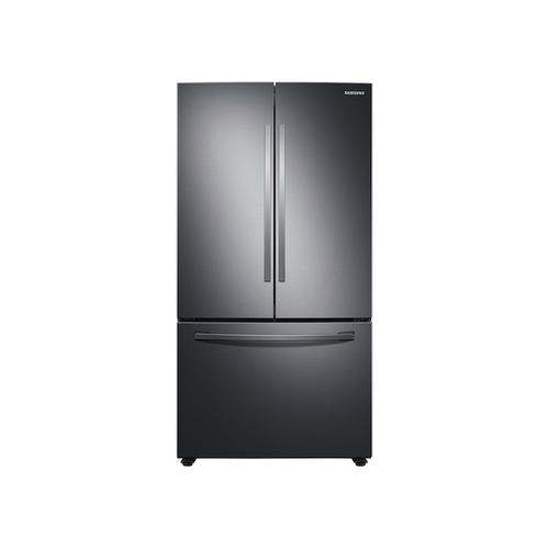 28 cu. ft. Large Capacity 3-Door French Door Refrigerator with Internal Water Dispenser in Black Stainless Steel