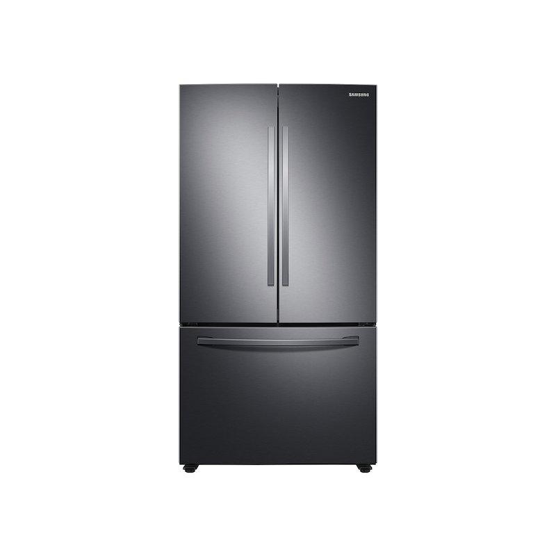 28 cu. ft. Large Capacity 3-Door French Door Refrigerator with Internal Water Dispenser in Black Stainless Steel