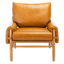 Oslo Mid Century Arm Chair - Caramel / Natural