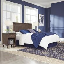 Southport Queen Headboard and Two Nightstands