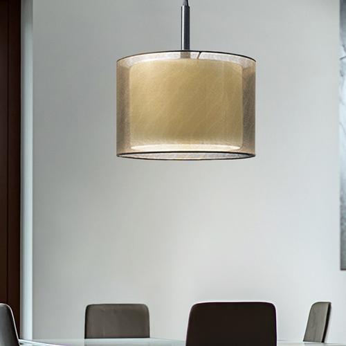 "Sonneman - A Way of Light - Puri Pendant [Size=22"", Color/Finish=Black Brass w/Bronze Shade]"