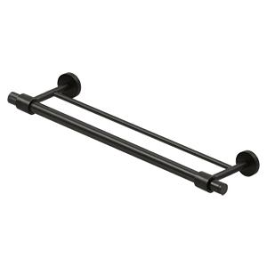 """Deltana - 24"""" Double Towel Bar BBS Series - Oil-rubbed Bronze"""