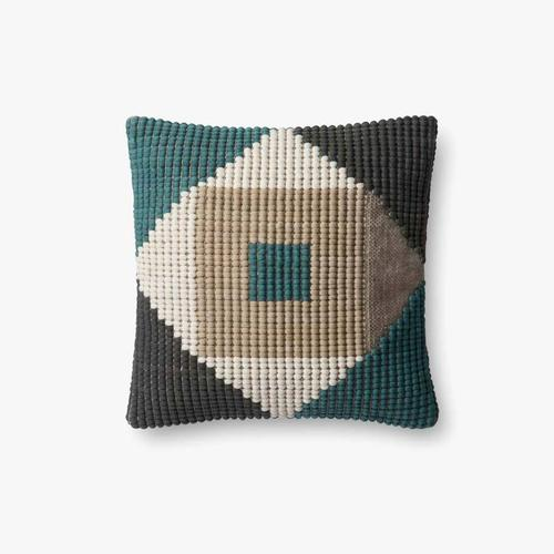 P0505 In/out Teal / Multi Pillow