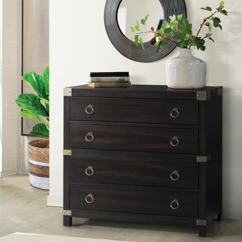Riverside - Myra 4-Drawer Accent Chest in Sable Finish