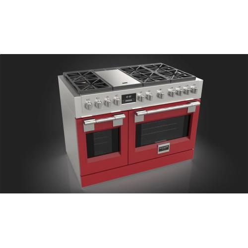 """48"""" All Gas Pro Range - Glossy Red"""