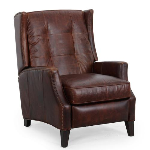 Lincoln 7-4135 Recliner-push thru the arms in Wexner-mahogany 5134-88