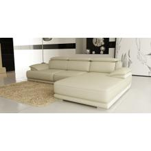 Divani Casa 6134 Modern Cream and White Bonded Leather Sectional Sofa