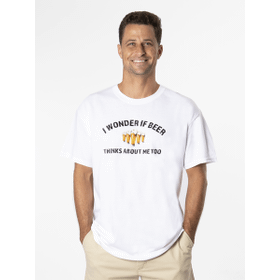 I Wonder If Beer Thinks About Me Too T-Shirt - XXL