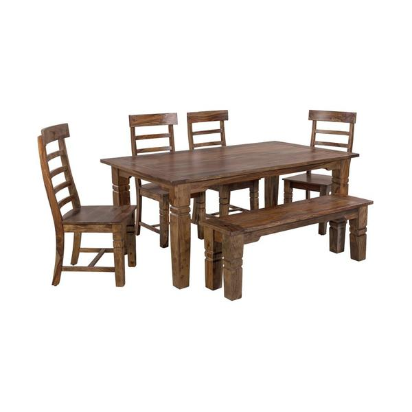 See Details - Tahoe Harvest Dining Table, Chairs & Bench, SBA-9015H