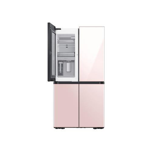 Gallery - 29 cu. ft. Smart BESPOKE 4-Door Flex™ Refrigerator with Customizable Panel Colors in Rose Pink Glass