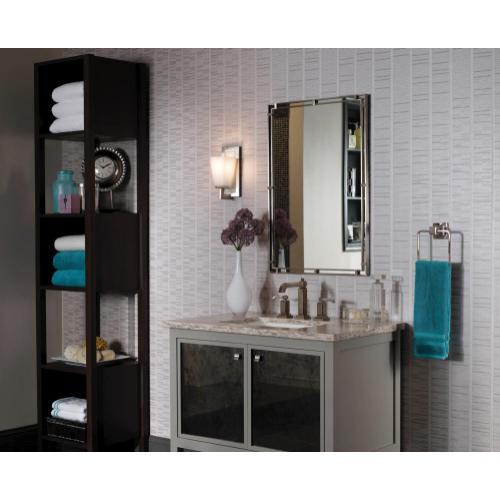 Parker Place Mirror Brushed Steel