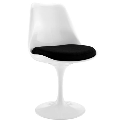 Lippa Dining Fabric Side Chair in Black
