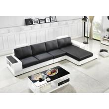 Divani Casa T701 Modern Black & White Bonded Leather Sectional Sofa