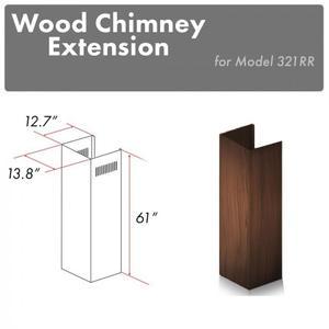"Zline KitchenZLINE 61"" Wooden Chimney Extension for Ceilings up to 12.5 ft. (321RR-E)"