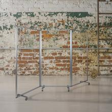 """Product Image - Transparent Acrylic Mobile Partition with Lockable Casters, 72""""H x 36""""L (3 Sections Included)"""