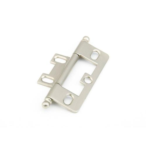 Solid Brass, Hinge, Ball Tip Non-Mortise, Satin Nickel finish