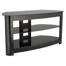 """View Product - Black Audio Video Stand Black lacquered finish - fits AV components and TVs up to 56"""""""