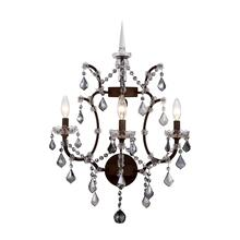 Elena 3 light Rustic Intent Wall Sconce Silver Shade (Grey) Royal Cut crystal