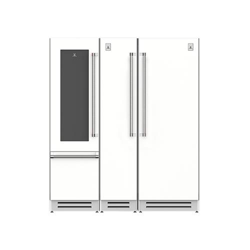"Hestan - 72"" Wine Refrigerator (L), Column Freezer and Refrigerator ® Ensemble Refrigeration Suite - Froth"