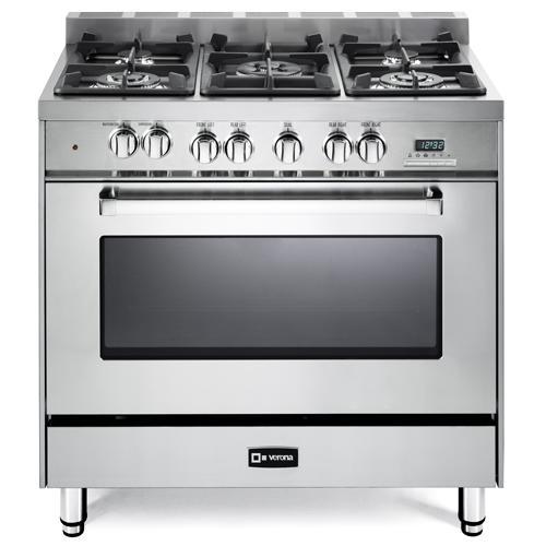 """Gallery - Stainless Steel 36"""" Dual Fuel Single Oven Range - 'N' Series"""