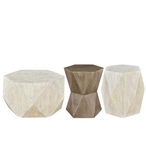 Concave Side Table - Portabella Finish