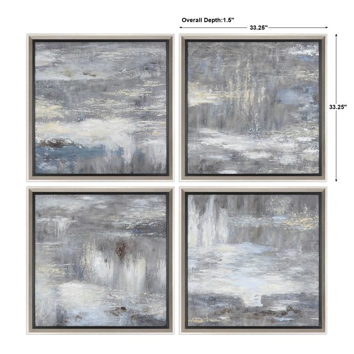Uttermost - Shades Of Gray Hand Painted Canvases, S/4